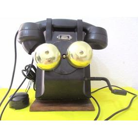 Antiguo Teléfono Marca Ericsson Completo Para Decoración