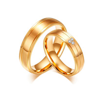 Par De Alianças Banhada A Ouro Casamento Dourada C/ Garantia