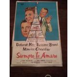 Afiche De Cine Siempre Te Amaré Deborah Kerr Brazzi