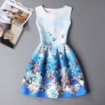 Vestido Infanto-juvenil Vintage Importado - Frete Grátis