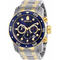 Relógio Invicta Pro Diver 0077 Misto Aço E Ouro 100% 2017