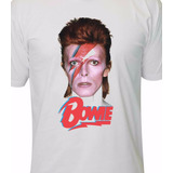 Camiseta David Bowie Banda Rock Metal