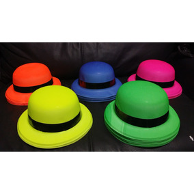 1 Sombrero Bombin Neon Color Paquete Fiesta Flow