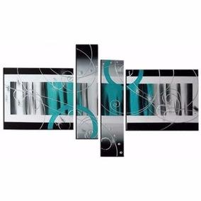 Cuadros Moderno Pintados A Mano Tripticos Abstractos