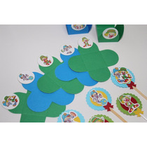 Kit Forminhas Doces + Toppers Patati Patata