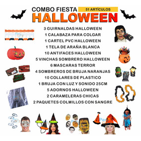 Combo Cotillón Decoración Fiesta Halloween Terror