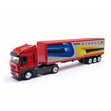 Caminhão Iveco Stralis Carreta Furgão 1/43 New Ray