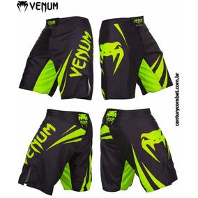 Bermuda Fight Venum Challenger Preta Verde Neon
