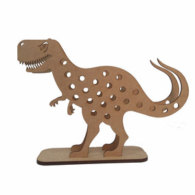 Kit Com 50 Porta Lápis Dinossauro Decoração Mdf Cru Enfeite
