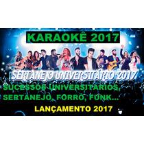 Dvd Musica Karaokê Sertanejo Universitário E 2017 Lançamento