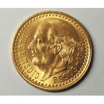 Hidalgo Oro 2 Pesos Y Medio Nueva.