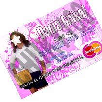 Invitaciones, Tipo Tarjeta De Crédito, Color Ambos Lados