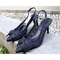 Sapato Rendado Modelo Chanel Zara Woman 34