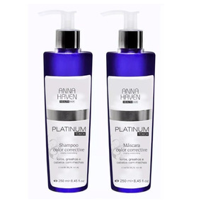 Anna Haven Platinum Touch Shampoo + Máscara - Oferta!!