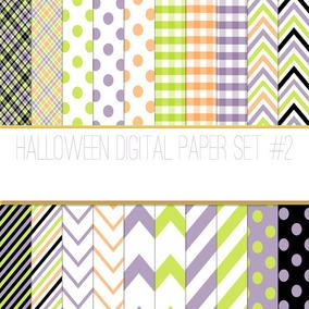 Kit Imprimible Pack Fondos Halloween 78 Clipart
