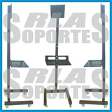 Rack Pie Led Lcd Tv Regulable 2.00 Mts 40x40 Cm Karaoke Expo