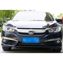Moldura Farol Aux. Cromada Em L Honda Civic 2017 Ry0612381