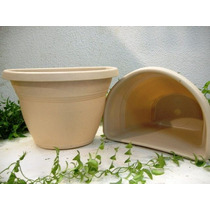 100 Vasos De Parede G Bege P/ Jardim De Inverno E Suculentas