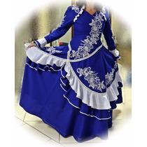 Vestido De Prenda Gaúcha Adulto P À Xxg Mod. Marília