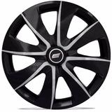 Calota Aro 13 Prime Black Silver Universal Fiat/ford/gm/rena