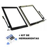 Touch Ipad 4 A1458 + Boton Home + Adhesivo 3m + Herramienta