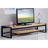 Mueble,rack Tv Industrial Rustica Hierro Y Madera,12 Pago Th