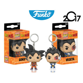 Set Vegeta Goku Funko Pop Keychain Llavero Dragon Ball Z