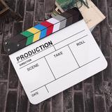 Claqueta Clack Profesional Bifaz Para Cine Blanca Y Color