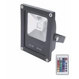 Reflector Led Rgb 10w 220v Control Remoto 16 Colores Fiestas