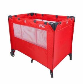Practicuna Motek Moises Rojo Plegable Con Bolso De Viaje