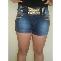Shorts Jeans Marca Zigma Estilo Pit Bull Pitbull Com Strass