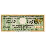 Alemania Cupón De Bono De 100 Marcos 1943