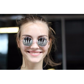 Óculos De Sol Redondo Lennon Beatles Espelhado Prata Unissex