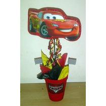 Centro De Mesa Cars X10 Unidades Cumpleaños Infantil