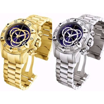Kit 2 Relógio Masculino Prata E Dourado Na Caixa