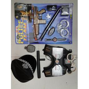 Legal Fantasia Policial Colete Algema Granada Fuzil Revolver