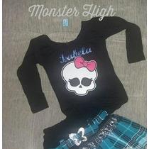 Roupa Monster High Frankie Draculaura Caveirinha Luxo
