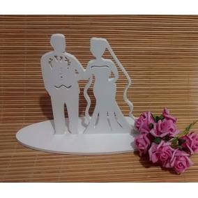 Topo De Bolo Noivinhos Mdf Provençal Branco Casamento Decor