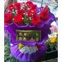Arreglo De 12 Rosas Premiun + 1 Caja De Bombones - Envios