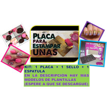 Kit Decorador De Uñas Plantillas Manicure Stamping Nail Art