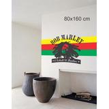 Adesivo Papel Parede Quarto Bob Marley Reggae Envio Imediato