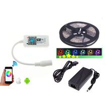 Tira Led 5050 Rgb + Controlador Wifi + Transformador 12v Kit