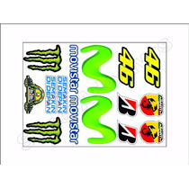 Cartela Adesivos Valentino Rossi + Frete Grátis