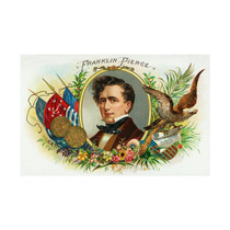 Franklin Pierce Brand Cigar Box Label Print, 24 X36