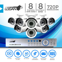 Kit Camaras Seguridad Dvr 8ch 8cam 720p 1mp Superior 1500tvl