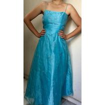 Vestido De Noche Azul Nuevo Oferta