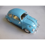 Vw Sedan 1967 Esc:1/24 Kinsmart Autos Escala Coleccion Azul