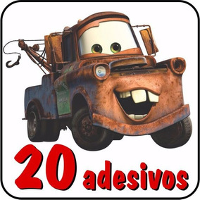 20 Adesivos Carros Disney Relâmpago Mcqueen