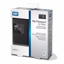 Hd Externo Portátil Western Digital My Passport For Mac 1tb