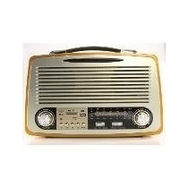 Radio Com Bluetooth Retro Vintage Luxo Com Usb Sd Am Fm Comp